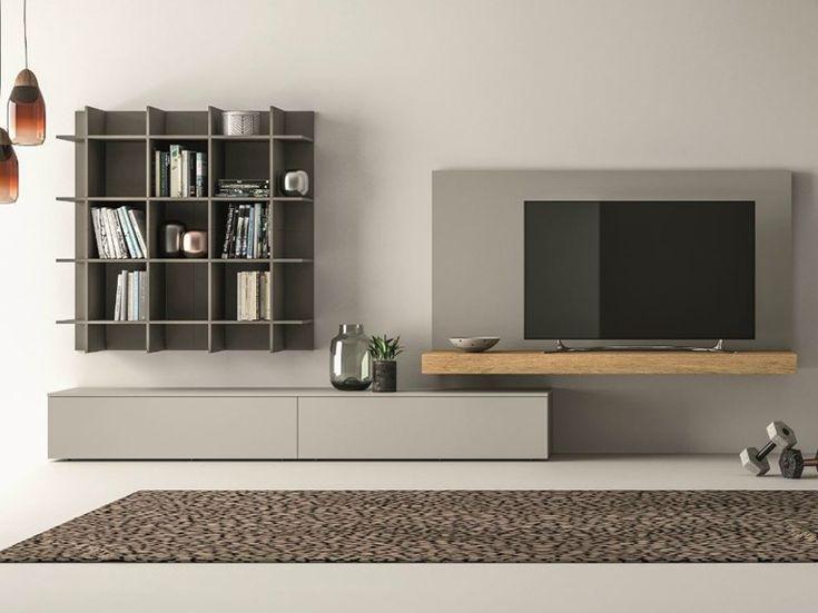 Mueble modular de pared composable SLIM 111 by Dall'Agnese