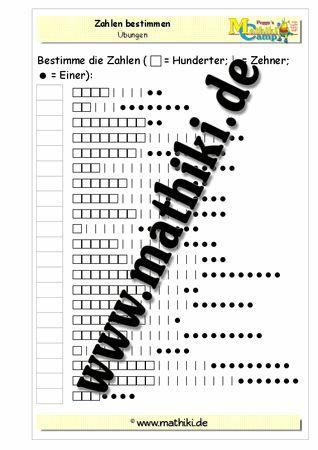 Zahlen bestimmen bis 1000 - mathiki.de: Mathe kann so einfach sein! Verbessere mit diesen Arbeitsblättern und tausend anderen Übungen Deine Mathekenntnisse! #math #arbeitsblaetter #worksheet #mathematik #matheindergrundschule #grundschule #mathiki #mathikionlinecamp #klasse3 #grade3