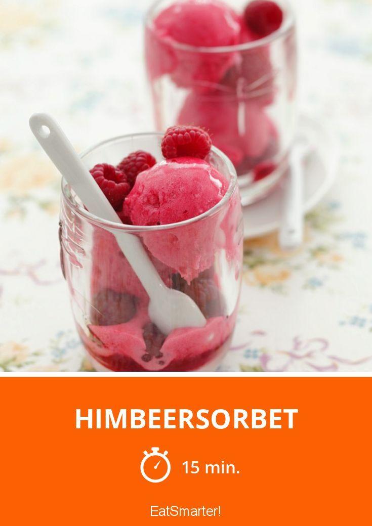 Himbeersorbet - smarter - Zeit: 15 Min. | eatsmarter.de