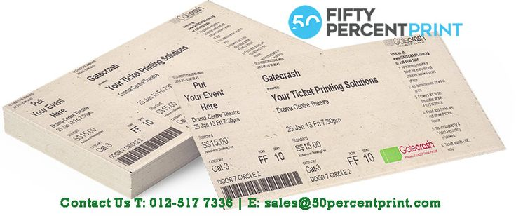 12 best Event Ticket Printing Ticket Printing Malaysia 50Percent