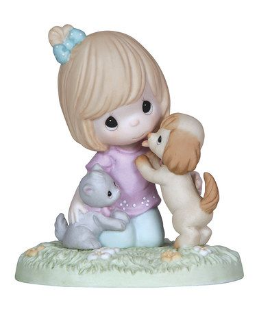 This Fur-Ever Friends Figurine by Precious Moments is perfect! #zulilyfinds