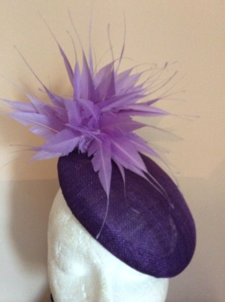 Purple button HELEN TILLEY #Millinery #hats #HatAcademy