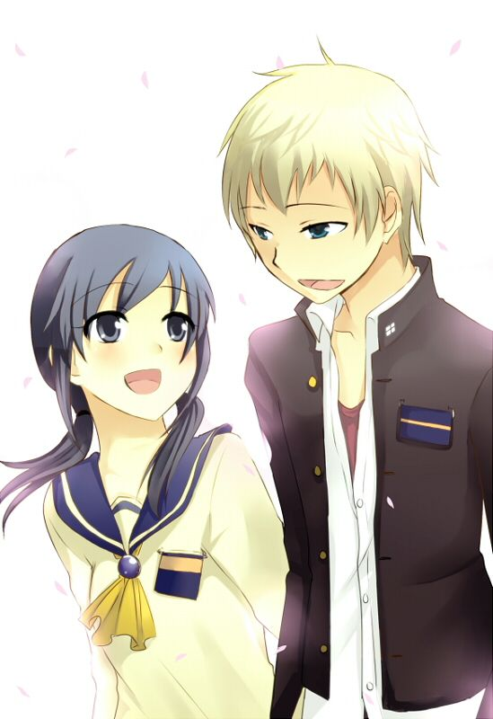 Shinozaki Ayumi Kishinuma Yoshiki Corpse Party- This was probably my favorite pairing. Even when Ayumi kind of went crazy and those bad ends...