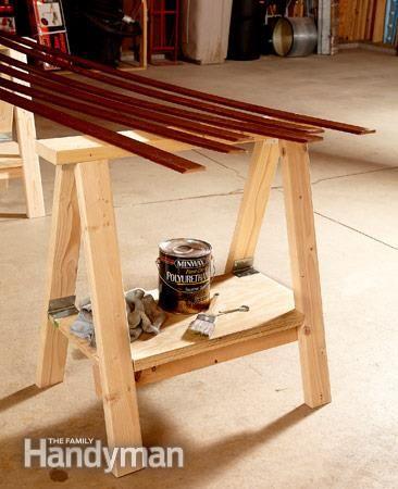 How to Make a DIY Vintage-Inspired Sawhorse Trestle Desk | Man Made DIY | Crafts for Men | Keywords: table, decor, office, desk