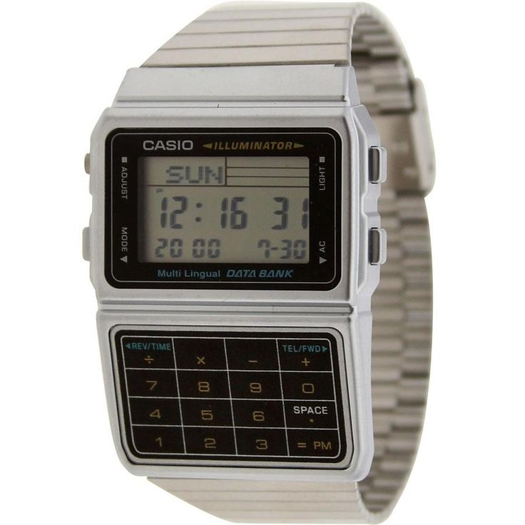 Casio Databank Multi Lingual Calculator Watch in silver