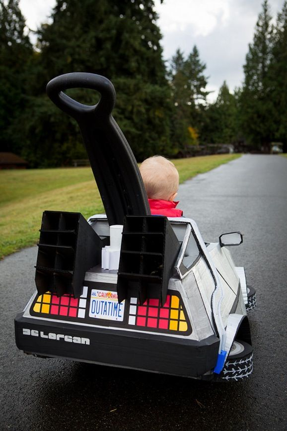 Back to the future :) Use This DeLorean Stroller To Get Your Baby Up To 88 Mph - nerdy kids toys <3