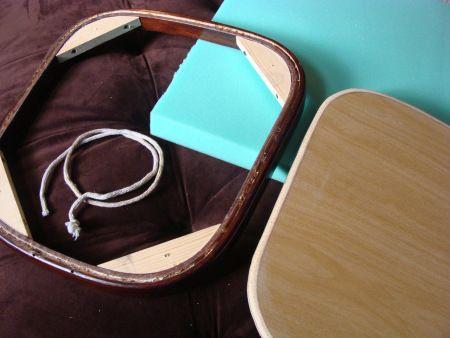 Upholstering a bentwood rocker