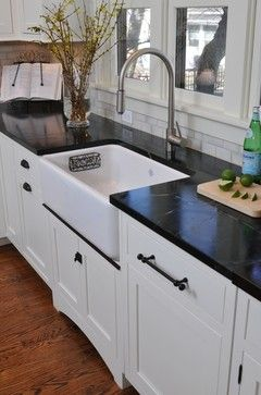 1920's Bungalow Kitchen-I like the cabinet handles