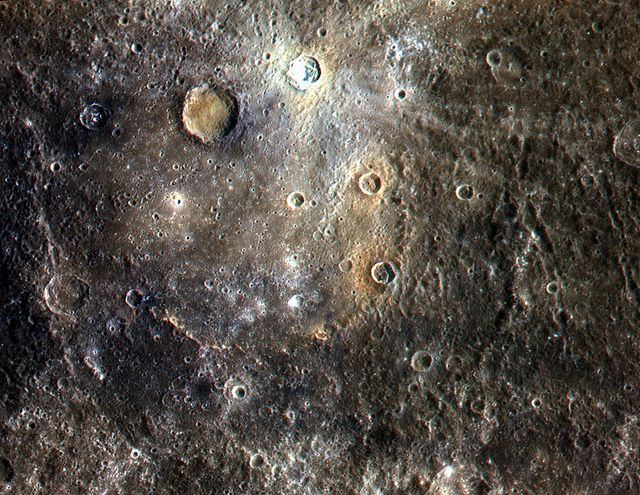 Color Image of Mercury from NASA's MESSENGER Satellite.