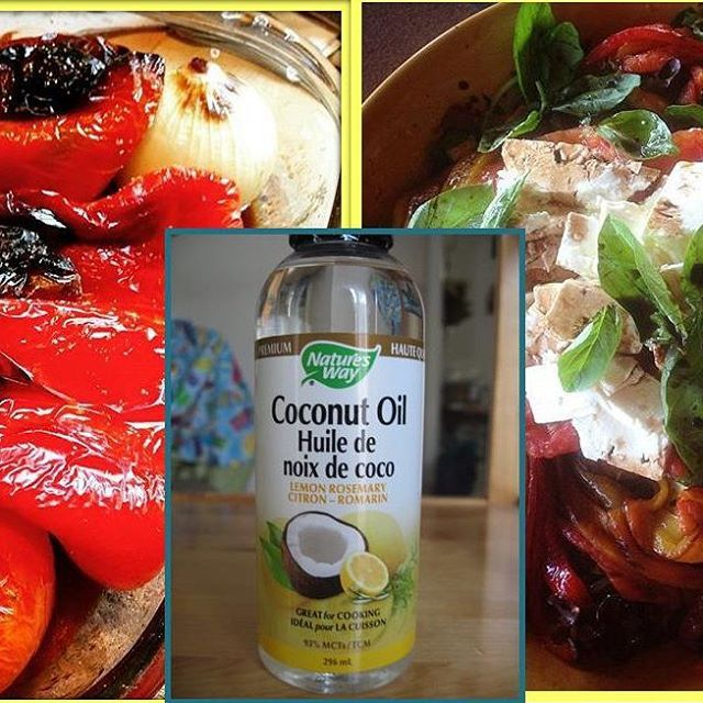 Reviewing Nature's Way lemon-rosemary infused coconut oil courtesy of @socialnature. Used it two ways: (1) roasted veggies and (2) salad vinaigrette. Delicious! #trynatural #contest