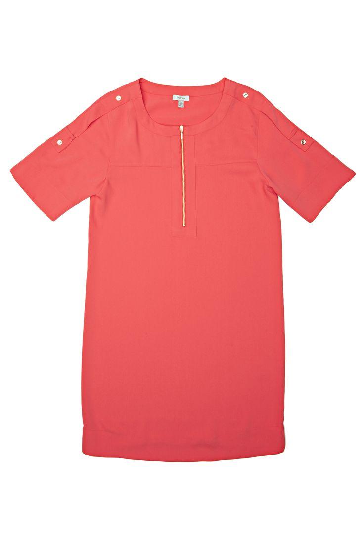 Tunique rose corail / Coral pink tunic www.tristanstyle.com