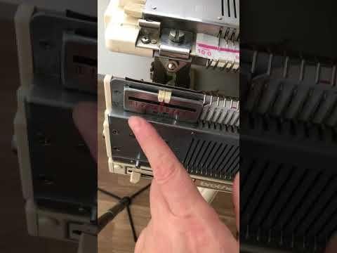 (116) Точная регулировка положения игл на передней игольнице бразера. - YouTube
