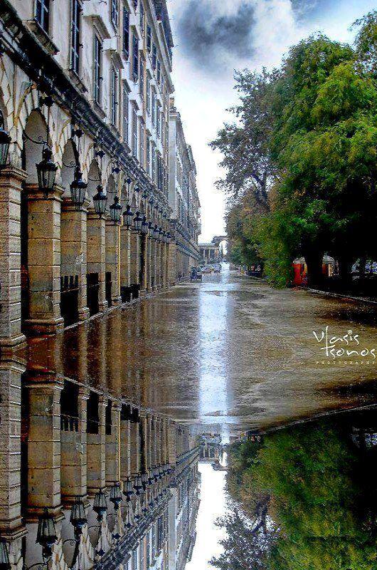 Rainy day.. Town of Corfu Island, Greece (photo by Vlasis Tsonos)