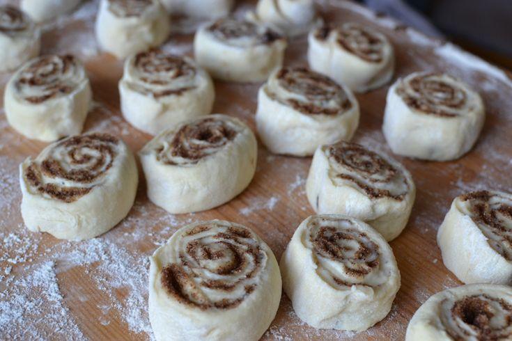 Рецепт булочки с корицей. Фото приготовления в домашних условиях.
