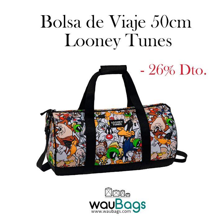 """Bugs Bunny, Pato Lucas, Piolin, Taz, El Gato Silvestre y muchos más... protagonizan esta divertida Bolsa de Viaje """"Looney Tunes"""".   @waubags #looneytunes #bugsbunny #patolucas #piolin #taz #elgatosilvestre #bolsa #viaje #oferta #descuento"""