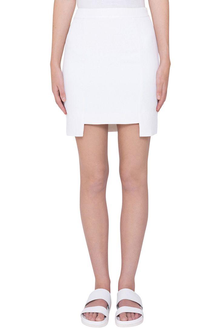Stepped Mini Skirt