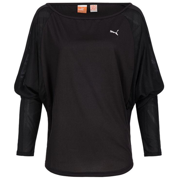 Elegantes  PUMA Damen Shirt Move Longsleeve Tee     Das Damen Shirt von PUMA mit einem U-Boot-Ausschnitt zeichnet sich  durch besondere Features aus. Das Cool Cell Material ermöglicht einen   optimalen Feuchtigkeitstransport und die...