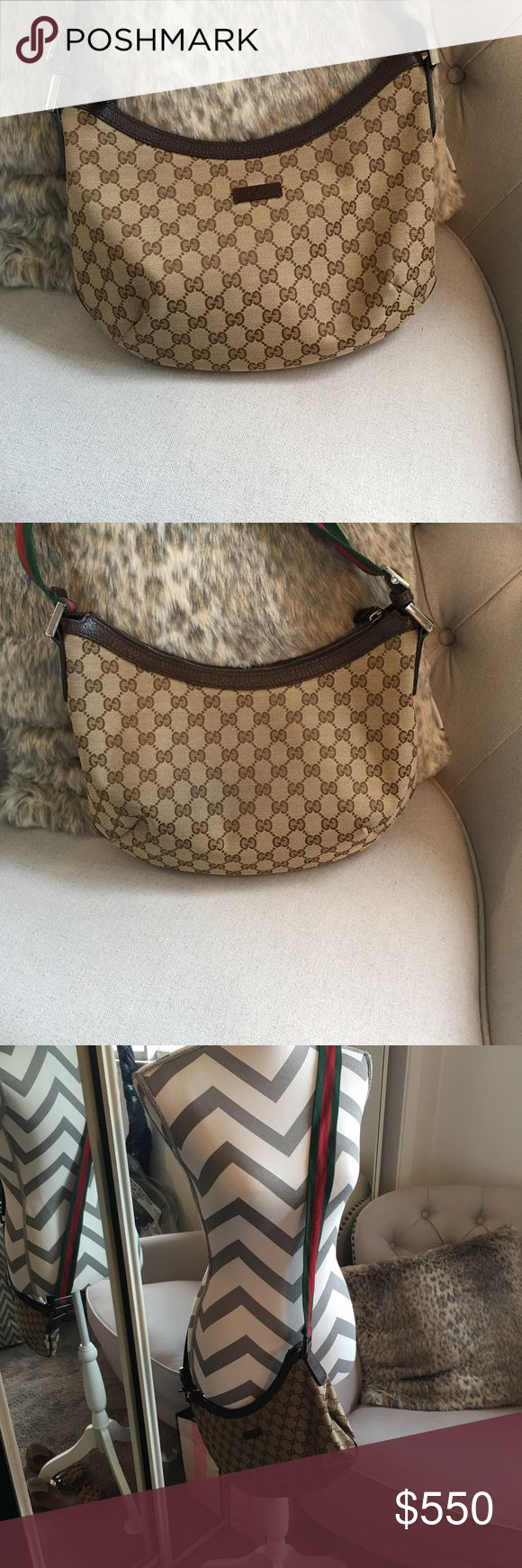 Gucci messenger bag Gucci cross body with adjustable red and green strap, excellent condition inside and out. Bought online from neiman Marcus in 2016. Gucci Bags Crossbody Bags