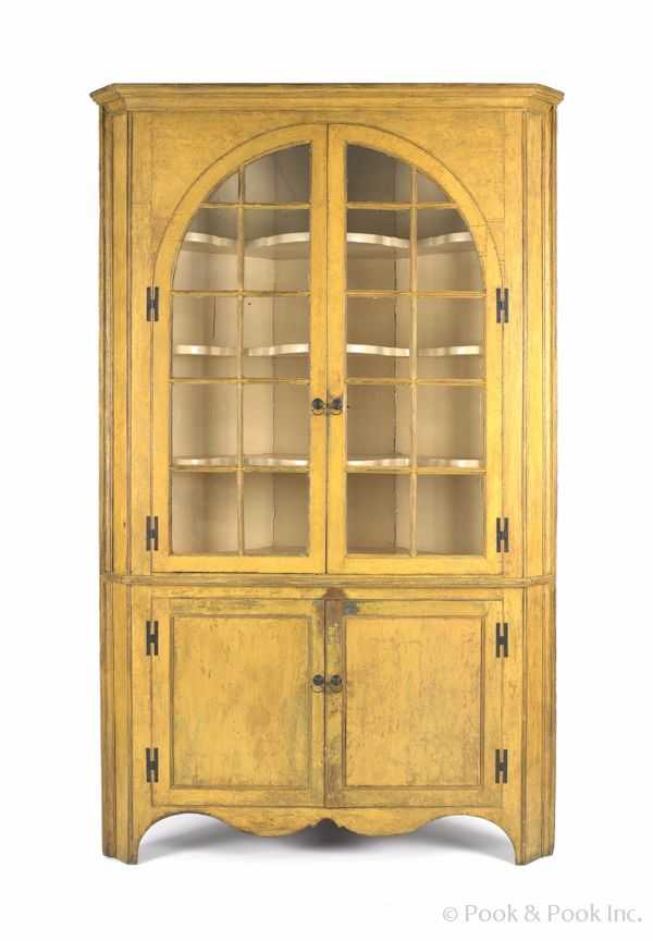Realized Price: $2133 Pennsylvania painted pine one-piece corner cupboard,  ca. 1810 - 125 Best Pennsylvania Cupboards Images On Pinterest Antique