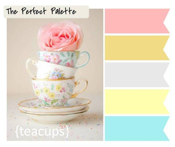 color palette - teacups