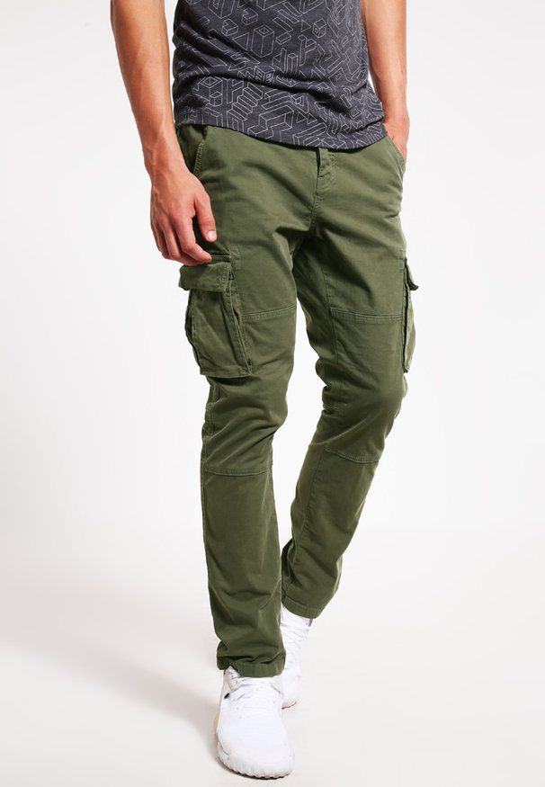aeb201289420f ONSSTONE - Pantalon cargo - olive night   Summer in 2018   Trousers ...