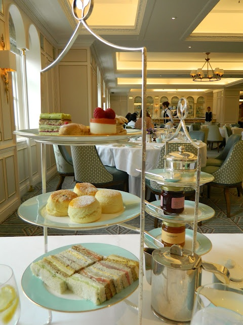Afternoon Tea at Fortnum and Mason, London.