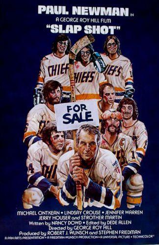 Slap Shot Mint Rolled Movie Poster Paul Newman Slapshot | eBay