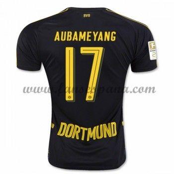 Camisetas De Futbol BVB Borussia Dortmund Aubameyang 17 Segunda Equipación 2016-17