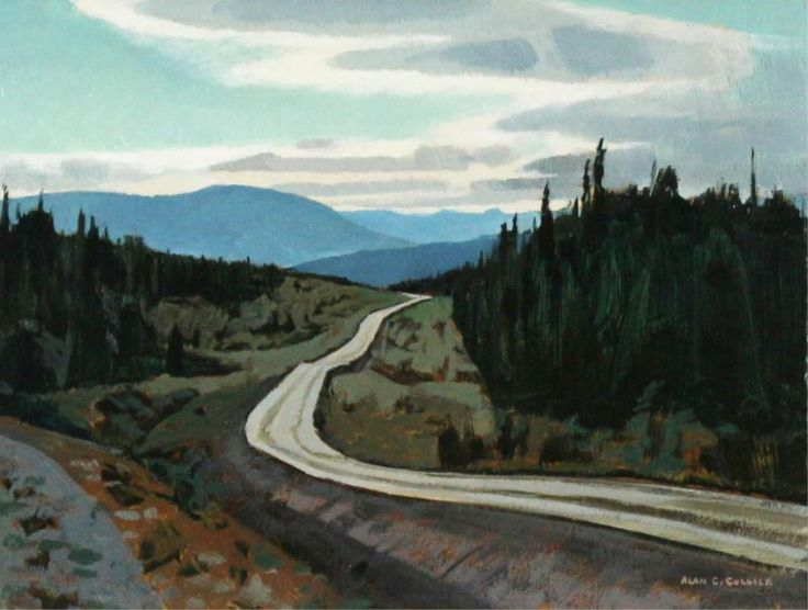 Alan Caswell Collier (1911-1990) - Alaska Highway, South of Teslin, 1982