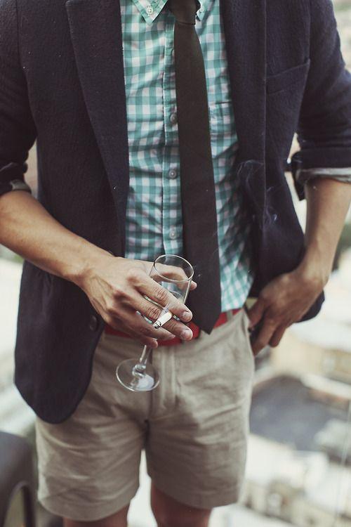 Striped Polo + Necktie
