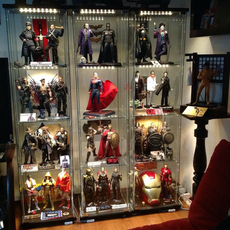 Man Cave Storage Wars : Best images about action figure display cases on