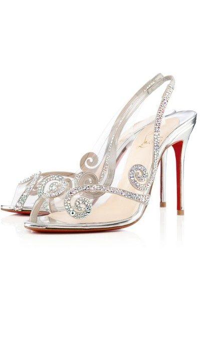 Christian Louboutin sparkling weddingshoes.