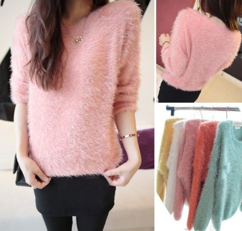 So fluffy this sweater! I love the color!