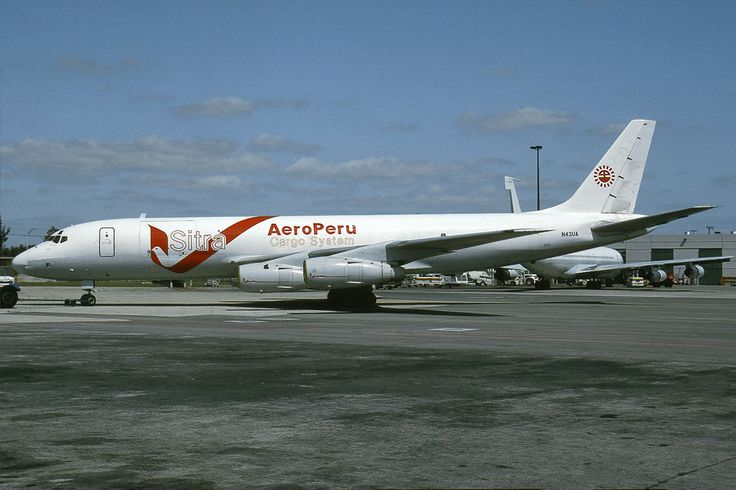 Aero Peru - Sitra N43UA DC-8-54F C/n 45677 MIA 29.02.1992