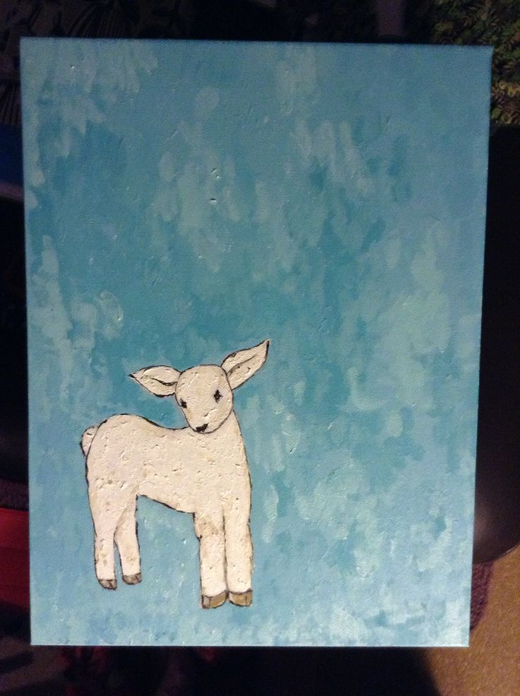 My attempt at lamb painting in acrylic