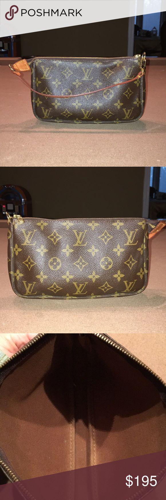Louis Vuitton Pouchette Small Louis Vuitton Pouchette hand bag. Louis Vuitton Bags Clutches & Wristlets