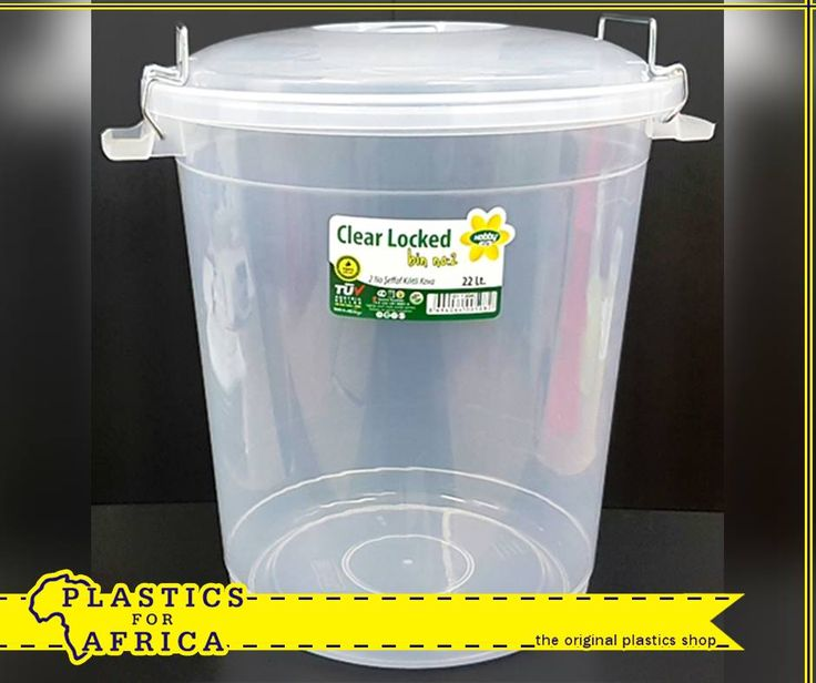 This clear, food grade clip on lid container allows you to easily identify what is stored inside. Available in 22lt, 45lt and 70lt from #PlasticsforAfrica.