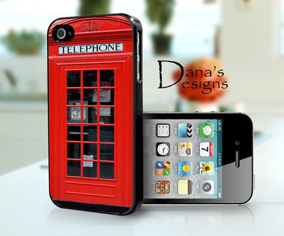 Telephone booth   iPhone 4S and iPhone 4 Case by DanazDesigns, $15.99: Iphone Cases, Black Iphone, Cases Iphone, Logos Design, Design Prints, Color Wear, Iphone 4 Cases, Telephone Booth, Cases Covers