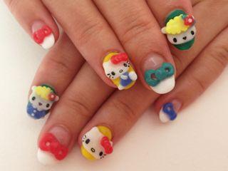 Supercute Hello Kitty nails by Japanese nail artist Ami Manabe!: Cute Nails, Japanese Nails, Nails Nails Nails, Hk Nails, Nails Artists, Hello Kitty Nails, Fifi Nails, Japan Nails