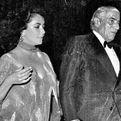 Aristotle Onassis and Elisabeth Taylor