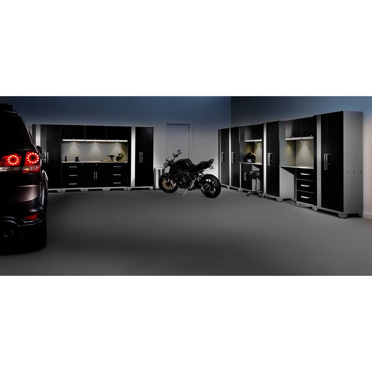 Beautiful Get Your Working Garage Neat And Organized With This Modular Stainless  Steel Storage Cabinet Set.