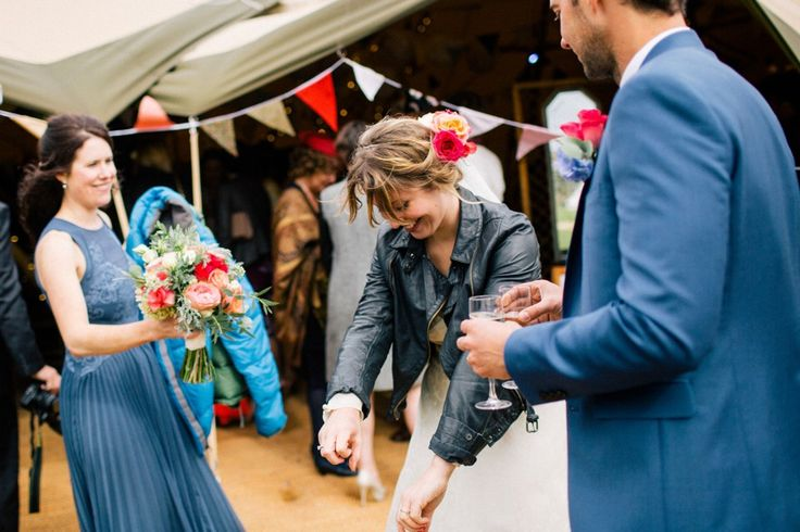 A '40s Vintage Gown for a Bohemian Bride and her Camp Village Style Whimsical Wedding