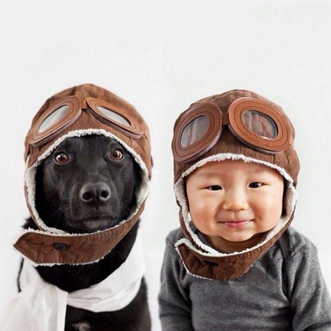 """""""Ho sempre vestito i mie cani con costumi scherzosi, così quando ho avutop un bambino è stato naturale cercare cappelli strani per delle foto"""". La fotografa Grace Chon, di Los Angeles, racconta così la genesi di questi scatti che hanno per protagonisti il figlio di 10"""