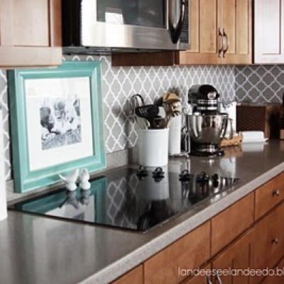 70 best kitchen backsplash images on pinterest kitchen for Vinyl wallpaper backsplash