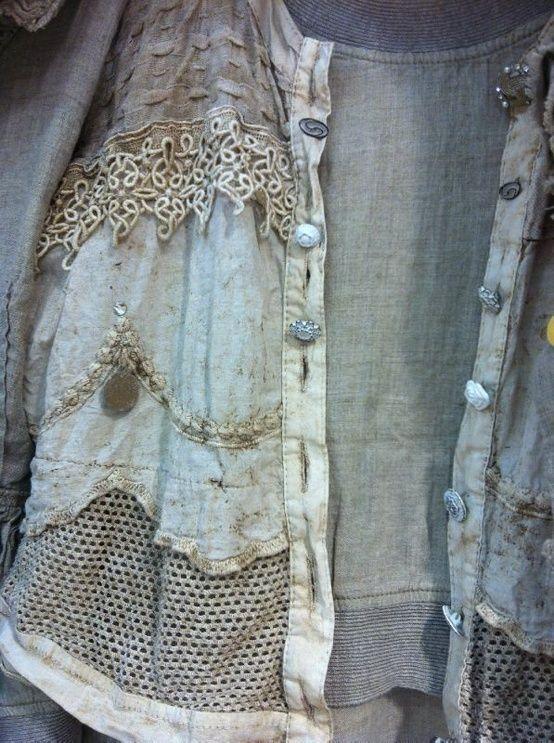 beautiful arrangement of old lace, etc.