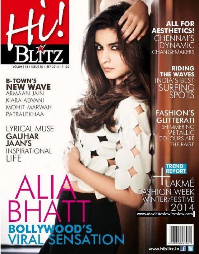 Hi! Blitz Magazine Calls Alia Bhatt Bollywood's Viral Sensation