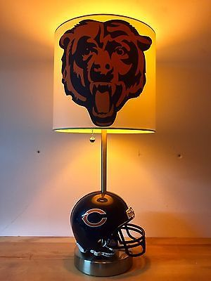 Custom-Chicago-Bears-Mini-Helmet-Football-Table-Lamp-NFL