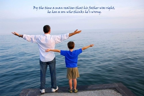 quotes about father and sons 162 500x334  quotes about father and sons By the time a man realises that his father was right