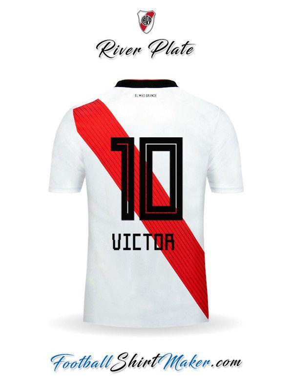 Crear Camiseta De River Plate 2018 19 Con Tu Nombre River Plate Camiseta Camisetas Camiseta De Futbol