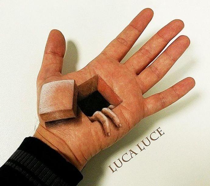 Ручные иллюзии: визажист создает реалистичные 3D-иллюзии на собственных руках, и это что-то невероятное